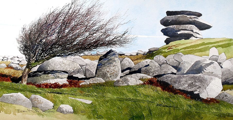 Bodmin Moor. The Cheesewring copy