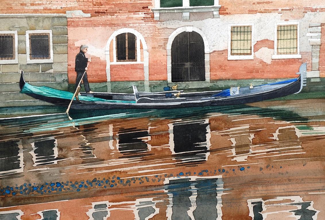 Venice, Rio del la Verona copy