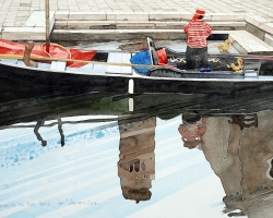 Venice, Boatman at the Frari copy